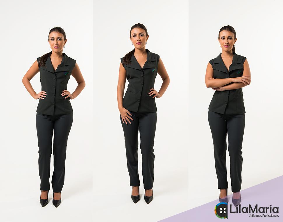 Uniforme colete alfaiataria feminino