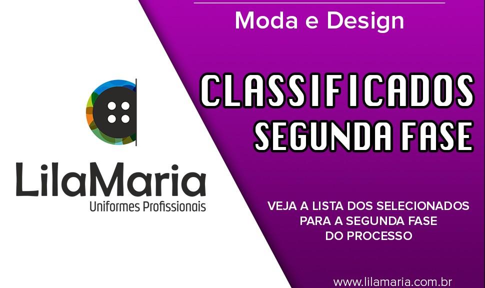 Classificados para a Segunda Fase – Vaga de estágio Moda e Design deac823ab6811
